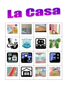 Casa (House in Spanish) Bingo game