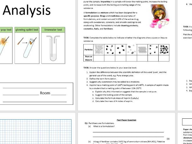 C5.8 Chemical Analysis Complete Booklet