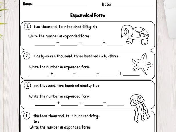 3rd Grade Math Worksheets PDF File Teaching Resources