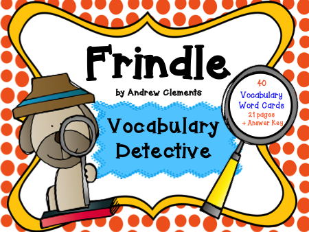 Frindle Vocabulary Detective