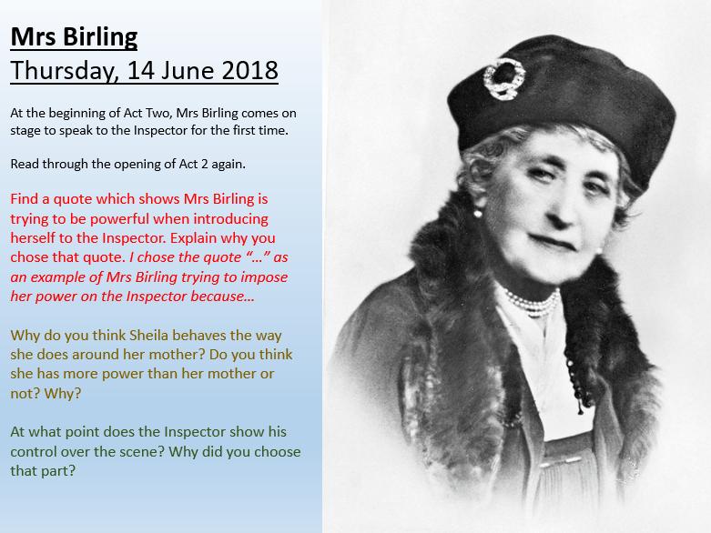 An Inspector Calls - Mrs Birling