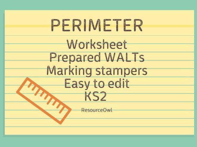 Perimeter worksheet KS2