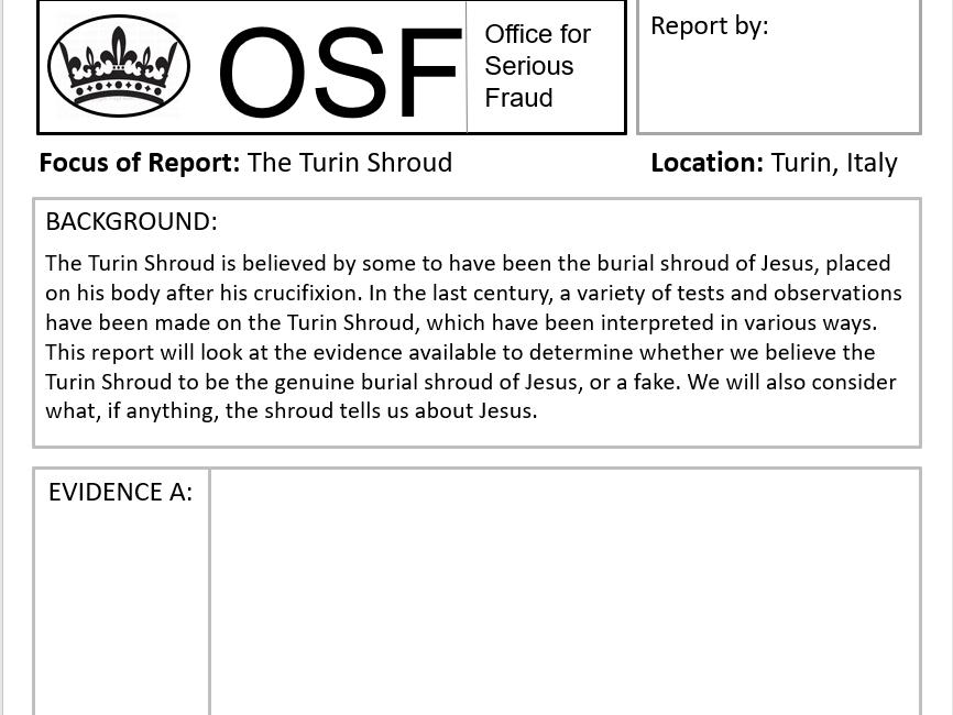 Turin Shroud Fraud Investigation (Whole Lesson/Jesus)