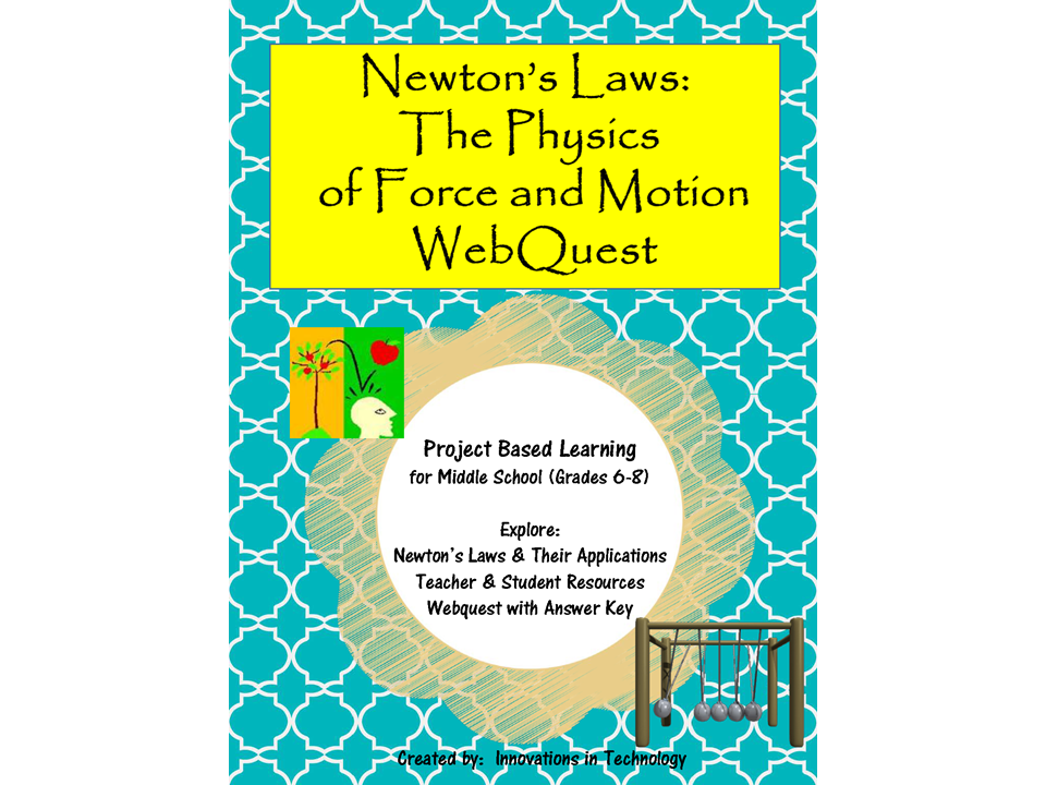 Newton's Laws: The Physics of Force & Motion Webquest (Internet Scavenger Hunt)