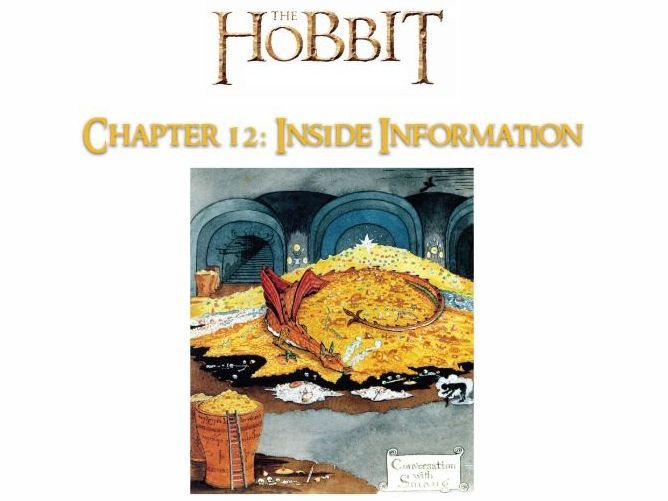 The Hobbit (J. R. R. Tolkien) - Chapter 12 - NO PREP ACTIVITIES, ANSWERS + GUIDE