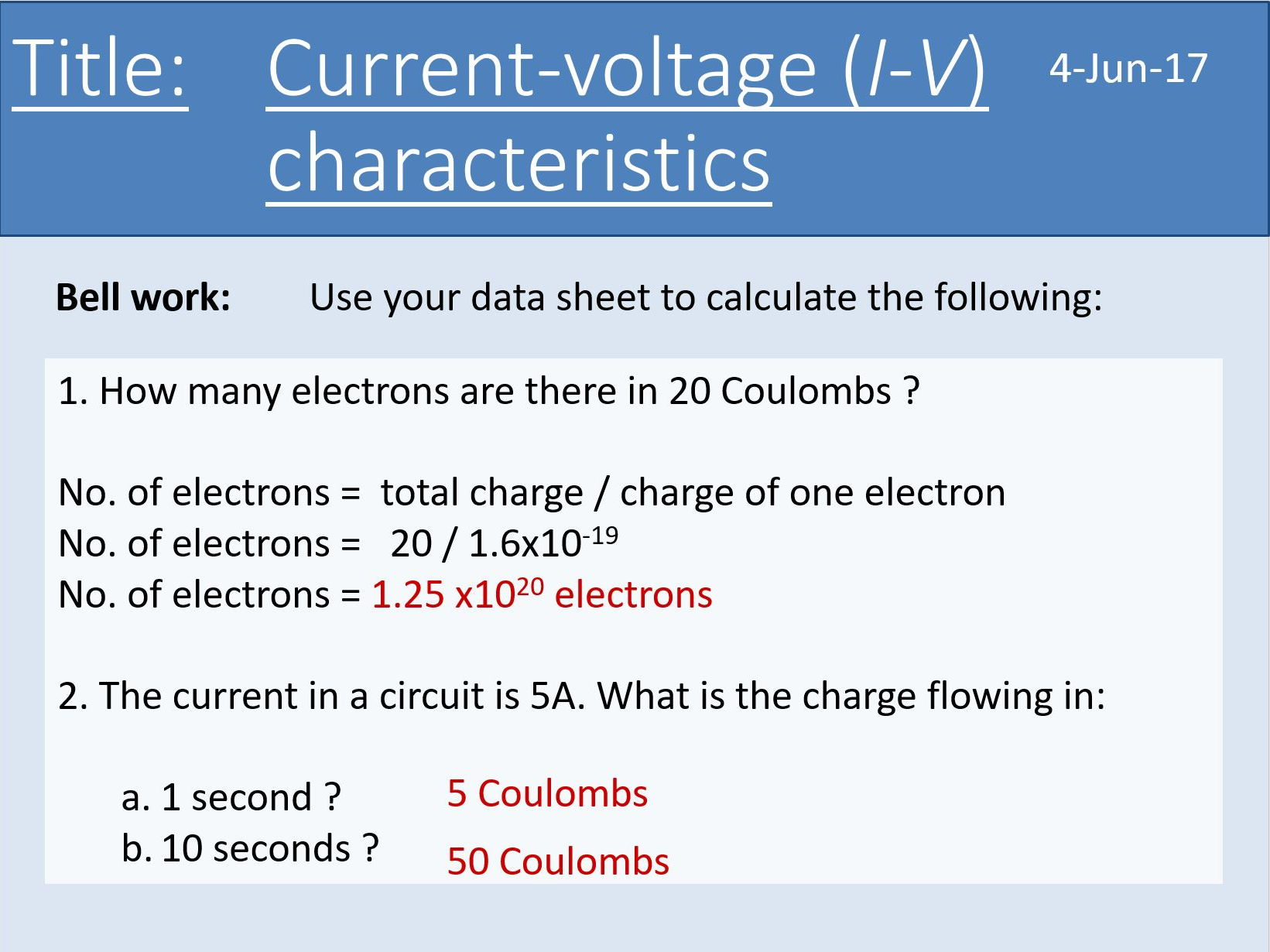 New AQA AS Physics Unit 5 Electricity - all lesson powerpoints and required practical support