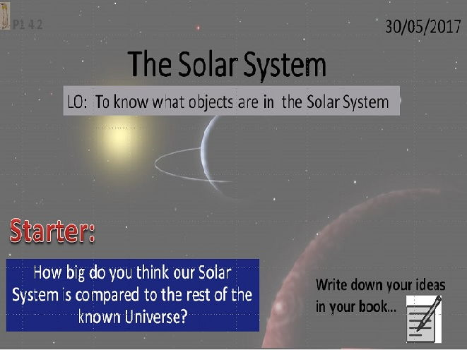 Activate 1:  P1:  4.2  The Solar System