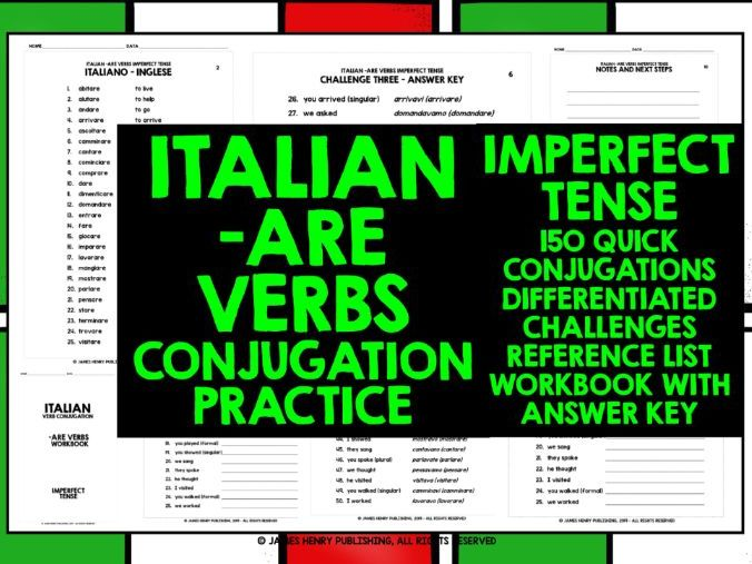 ITALIAN -ARE VERBS CONJUGATION 3