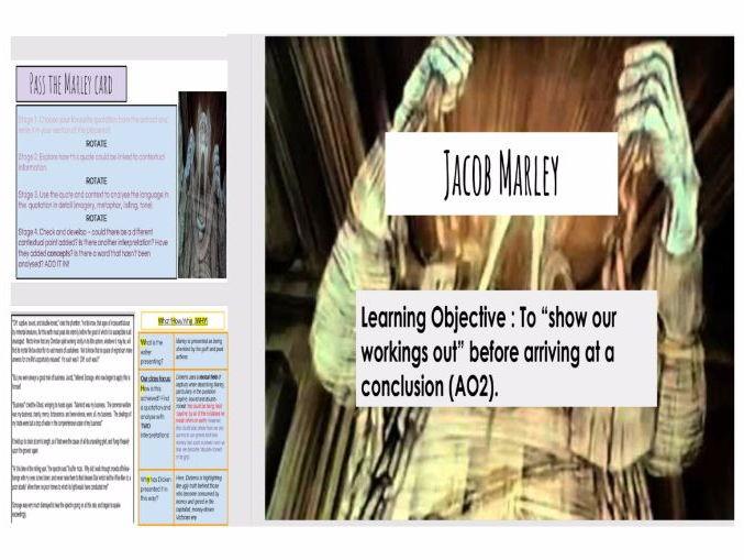 Jacob Marley A Christmas Carol High Ability