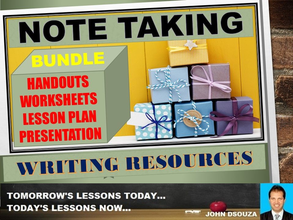 NOTE TAKING BUNDLE