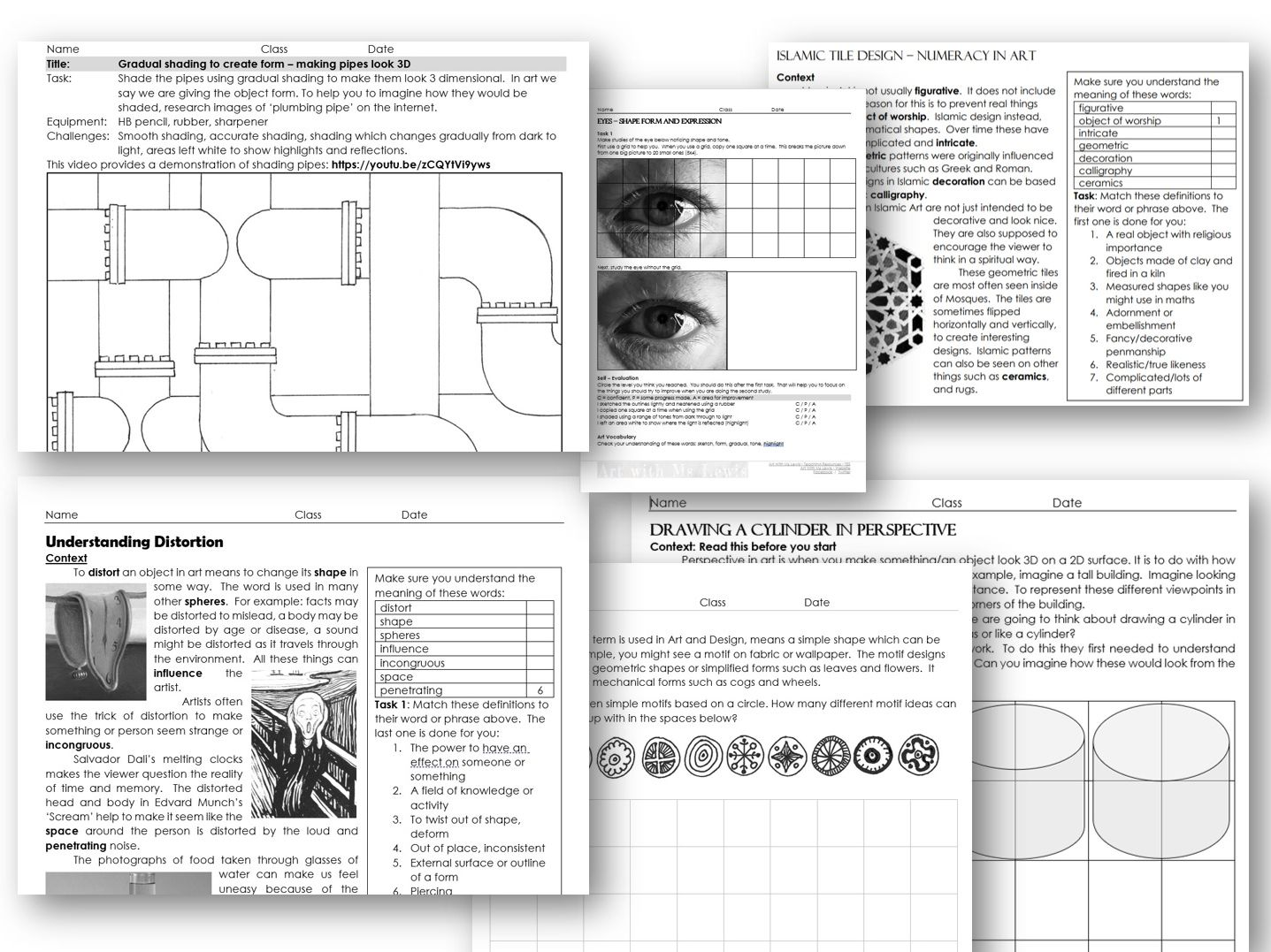 Remote Learning Lessons KS3 (editable)