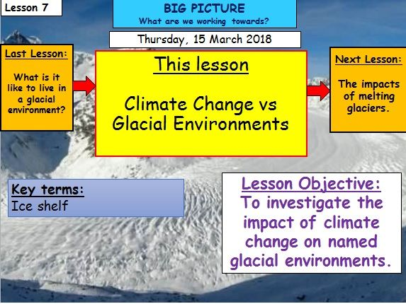 Glaciation - Lesson 7 - Climate Change vs Glacial Environments