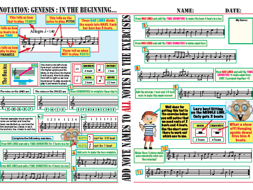 Reinforcing notation, rests, and time signatures for year 7 and 8. Good for cover.