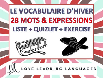 Vocabulaire d'Hiver + Exercices - French winter vocabulary worksheet