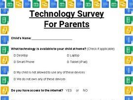 Technology Survey for Parents