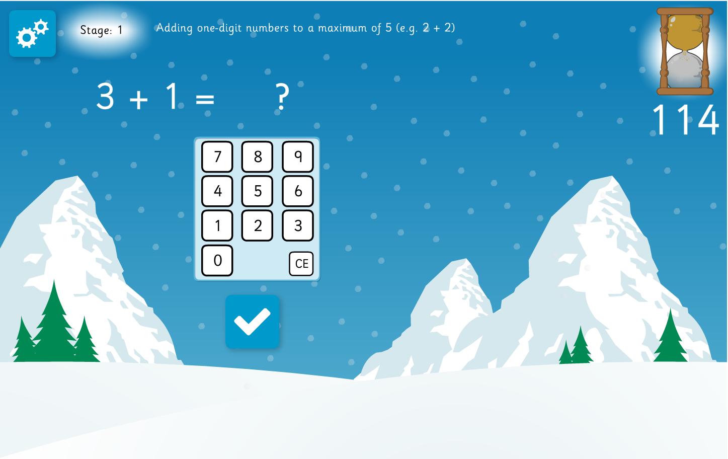 Snowman Addition Interactive Game - Christmas KS2