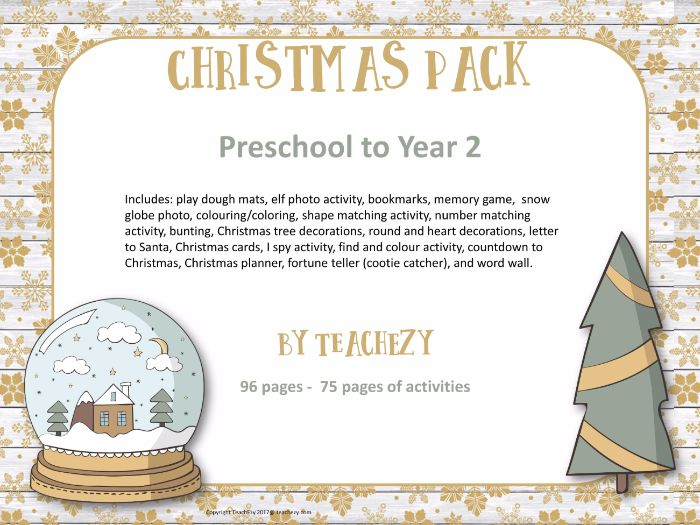 Christmas Pack for Preschool to Year 2