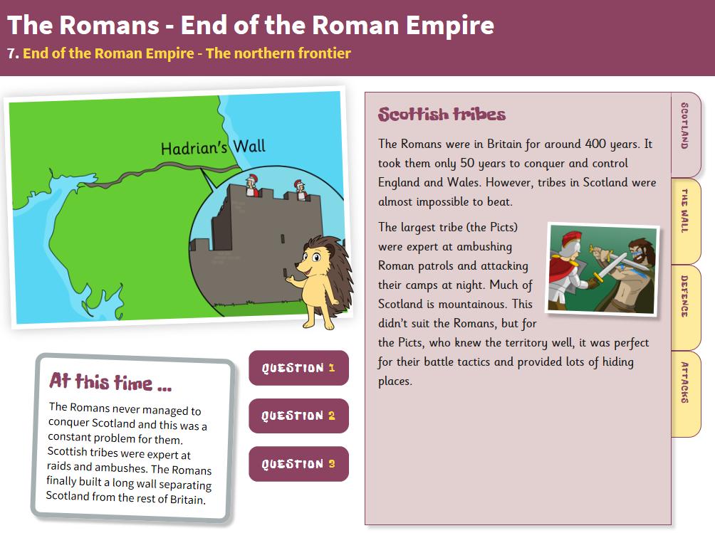 The Northern Frontier - Interactive Teaching Book - Roman Britain KS2