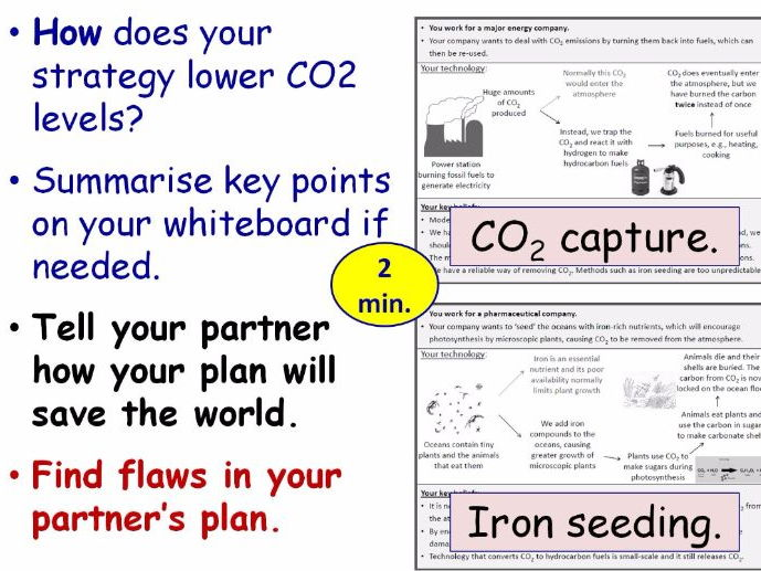 Global Warming and Climate Change Year 8 Lesson PowerPoint (KS3 8Ee) Combustion Topic