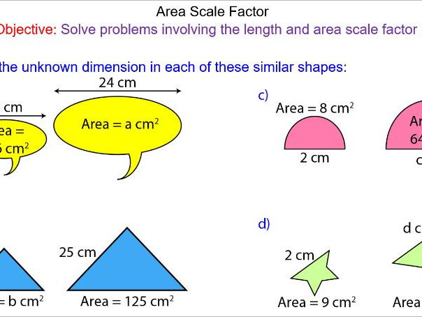 Area of Similar Shapes and Area Scale Factor