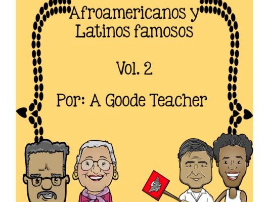 Spanish Reading Comprehension Passages: Famous African Americans & Latinos Vol. 2