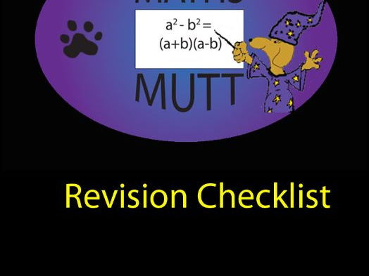 SQA Higher Maths Revision Checklist