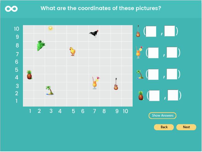 Coordinates - Year 6, Key stage 2