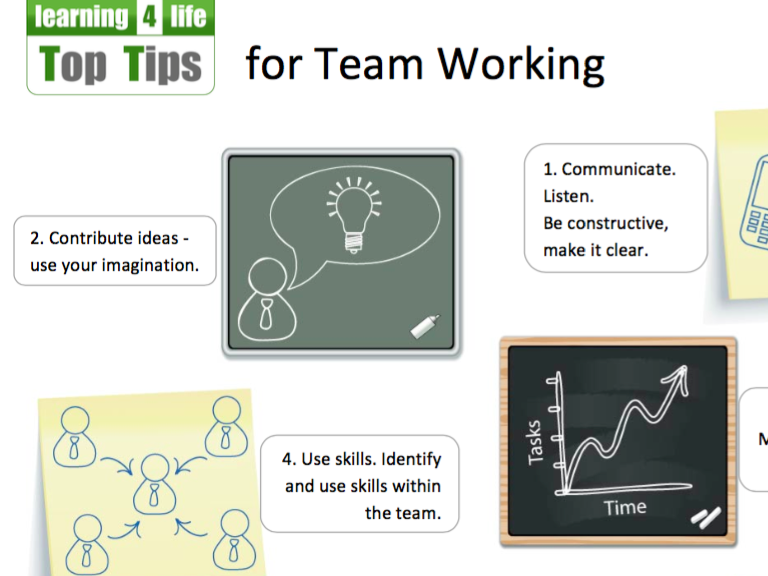 Top Tips for Team Working