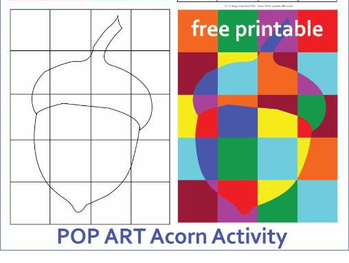 Free Fall/Autumn 'Pop Art Acorn' Creative Activity