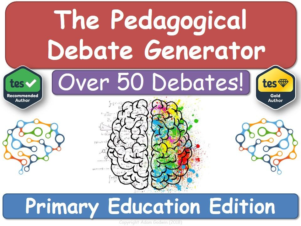 The Pedagogical Debate Generator! [Primary Teacher Training, NQT , RQT, PGCE, CPD] Teacher Training