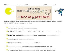 Video Game Revolution Documentary Notes