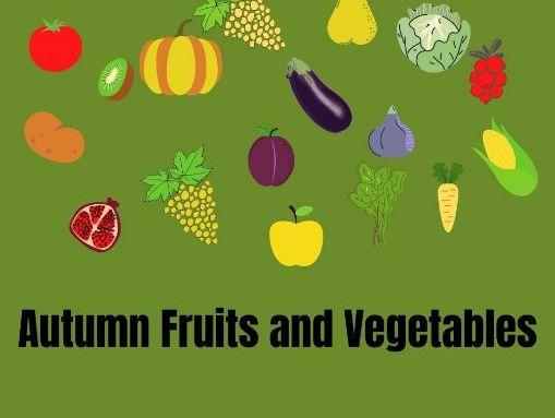 Autumn Fruits and Vegetables-Worksheet