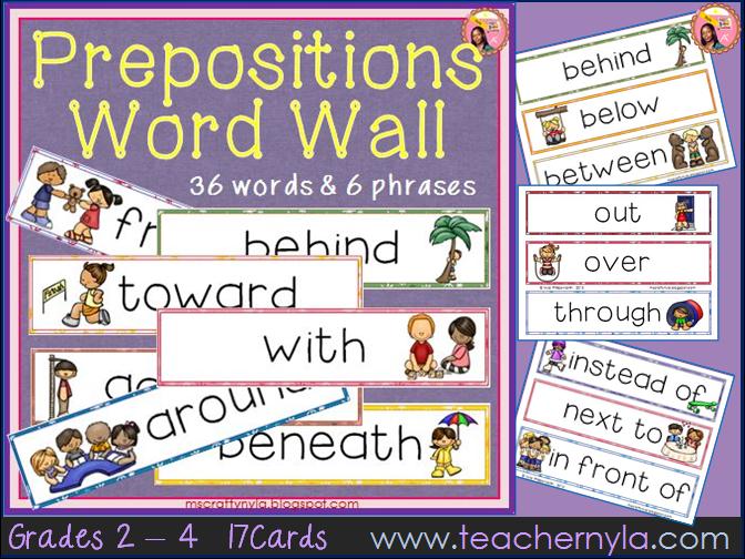 Preposition Word Wall