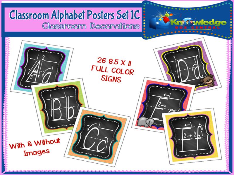 Alphabet Posters Set 1C