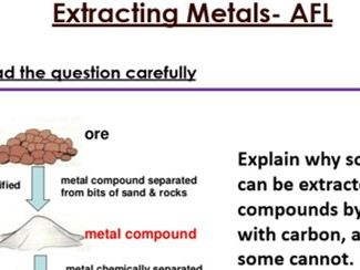 KS3 Extracting Metals six mark question