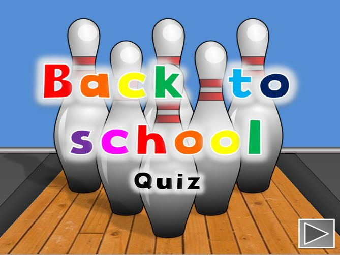 Back to school fun interactive quiz - editable