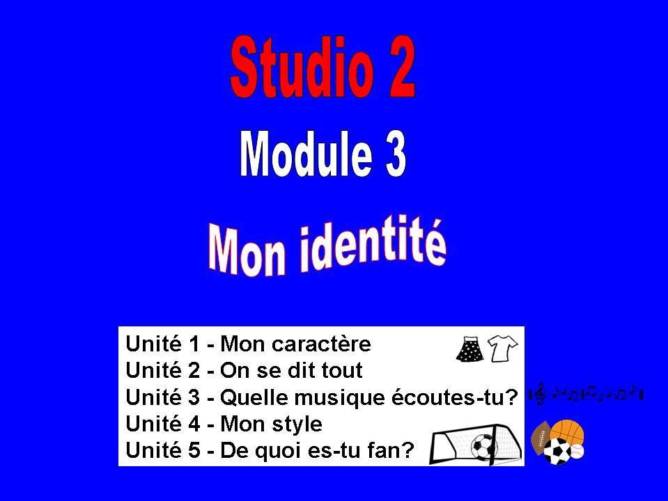Studio 2, Rouge, Module 3; Mon identité