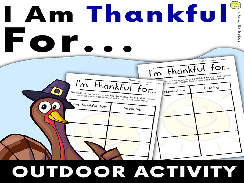 I Am Thankful For: Outdoor Activity - Thanksgiving