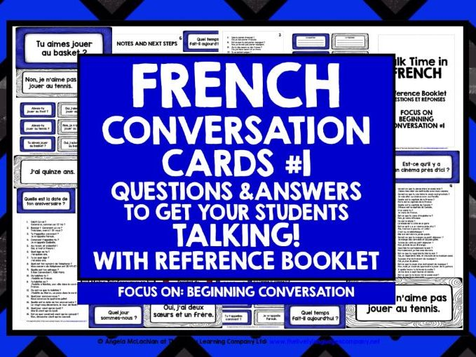 FRENCH SPEAKING CARDS #1