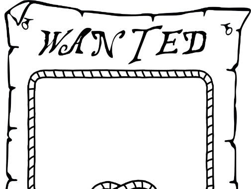 Pirate Wanted Poster Template
