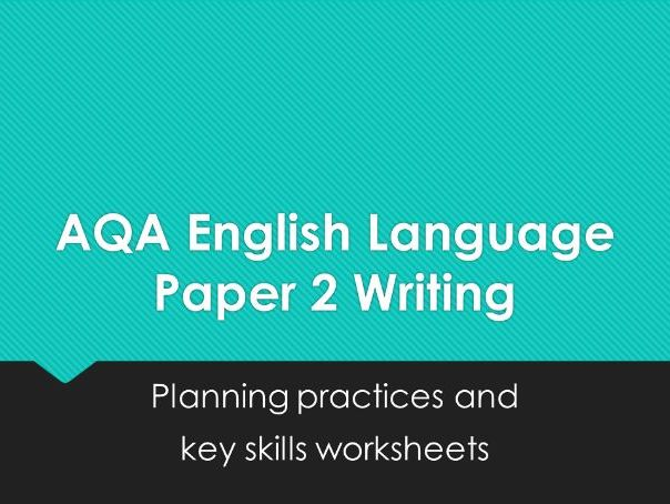 Paper 2 Question 5: Writing planning practices and helpsheets