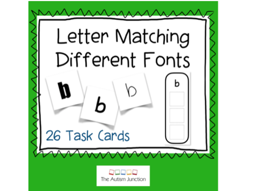 Letter Matching Different Fonts