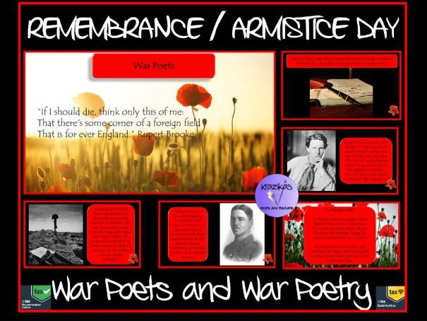 Armistice Day / Remembrance Day - War Poets / War Poetry Presentation