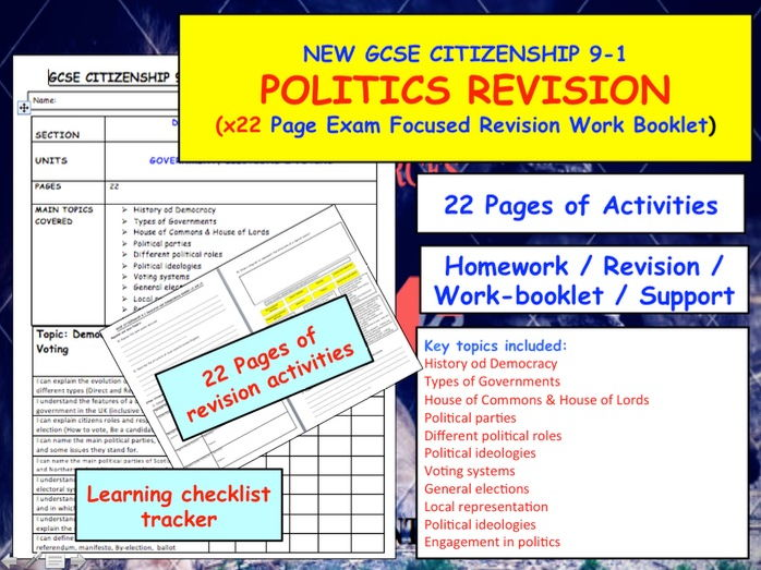 POLITICS REVISION - GCSE CITIZENSHIP 9-1