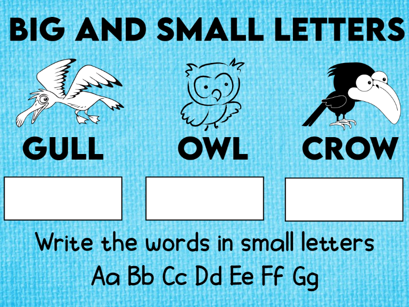Big and Small Letters Worksheets