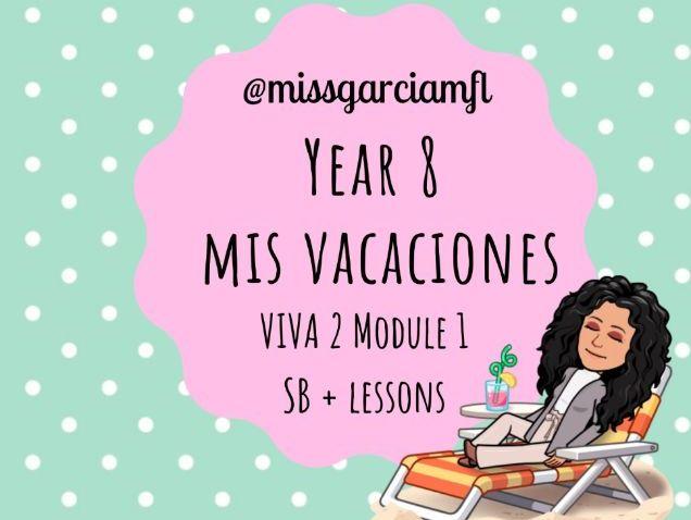 Sentence builders Holiday topic  (Year 8 - VIVA 2 book) + Knowledge organiser