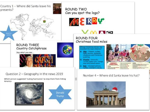 2019 Geography Christmas Quiz