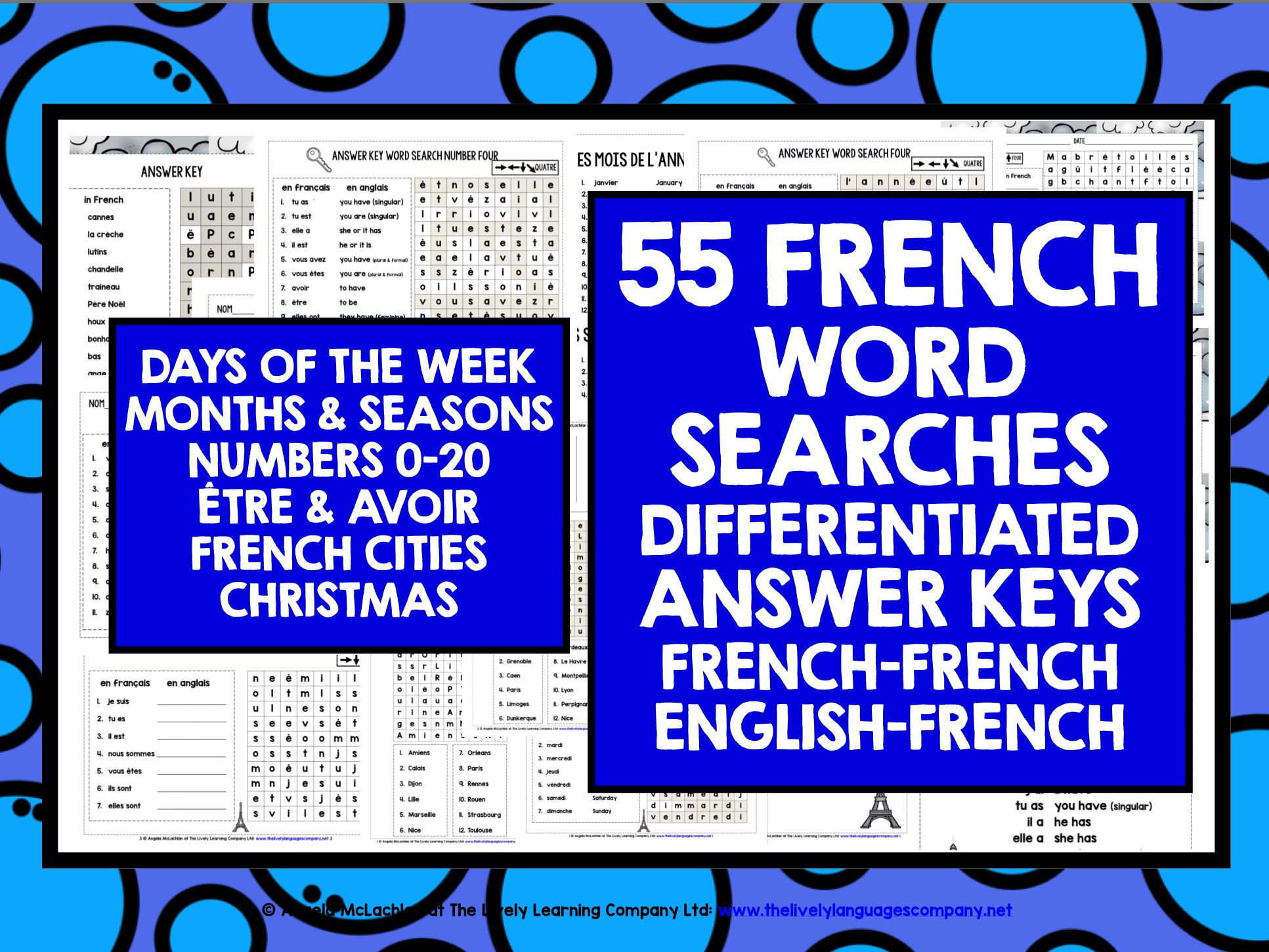 FRENCH WORD SEARCHES BUNDLE #1