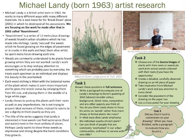 Michael Landy artist research and analysis worksheet