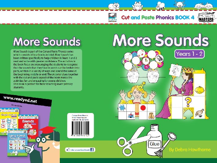 Cut and Paste Phonics 4 - More Sounds